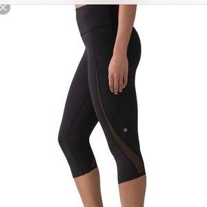 Lululemon Pace Perfect Crop Black Leggings